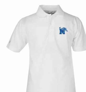 Memphis YOUTH Unisex Pique Polo Shirt (Color: White)