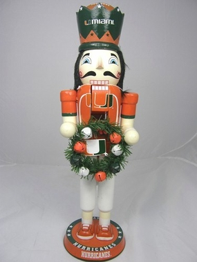 Miami 14 Inch Wreath Nutcracker Figurine