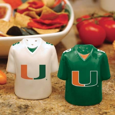 Miami Ceramic Jersey Salt and Pepper Shakers
