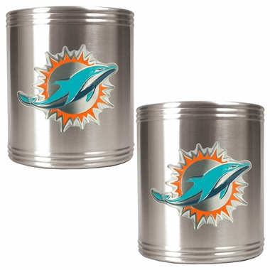 Miami Dolphins 2 Can Holder Set