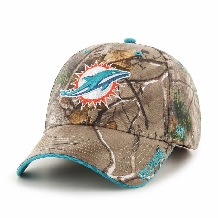 hot sale online 83830 a8ac1 Miami Dolphins 47 Brand Realtree Frost Structured Adjustable Hat - Camo