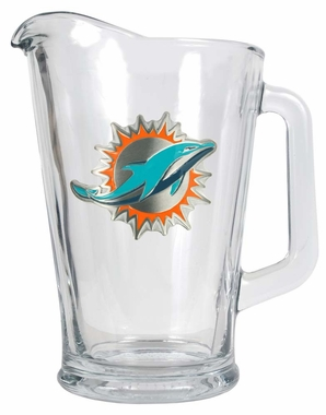 Miami Dolphins 60 oz Glass Pitcher