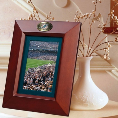 Miami Dolphins BROWN Portrait Picture Frame