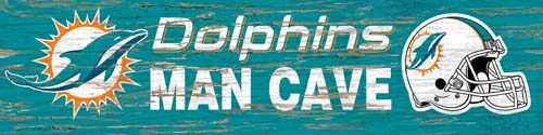 Man Cave Store Miami : Miami dolphins distressed man cave sign small