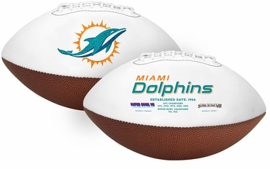 Miami Dolphins Full Size Embroidered Signature Series Football