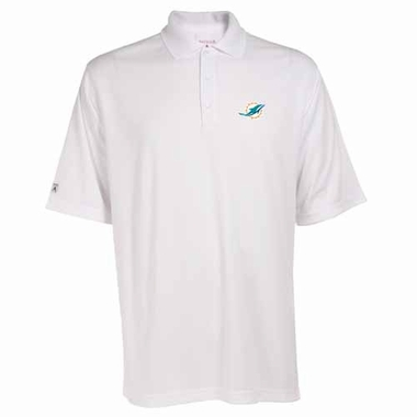 Miami Dolphins Mens Exceed Polo (Color: White)