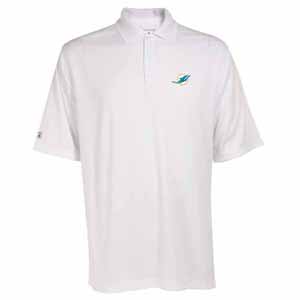 Miami Dolphins Mens Exceed Polo (Color: White) - Medium