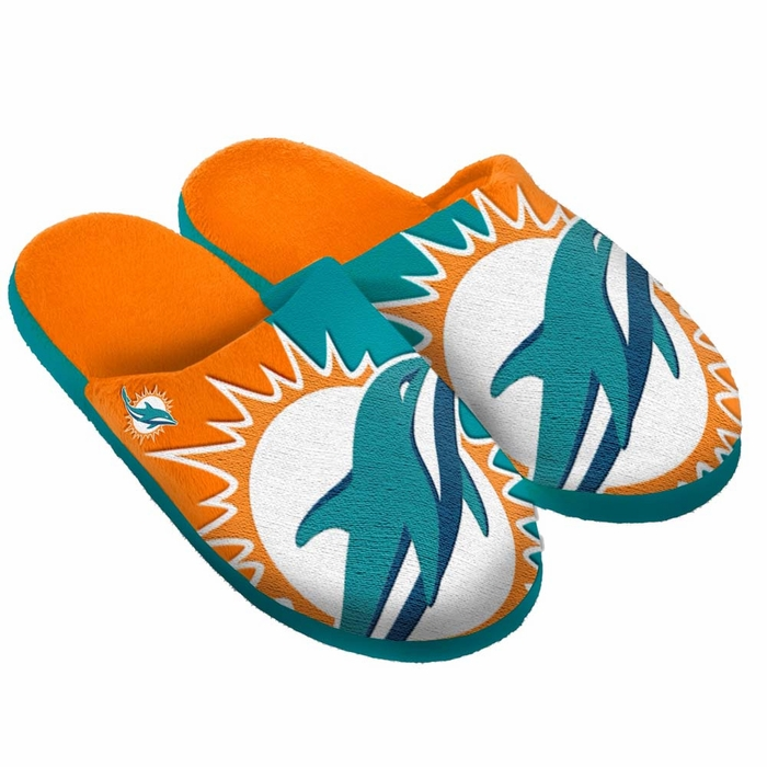 Men's Miami Dolphins Slippers Manchester cheap online XziTPNJJu