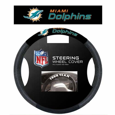 Miami Dolphins Steering Wheel Cover - Mesh