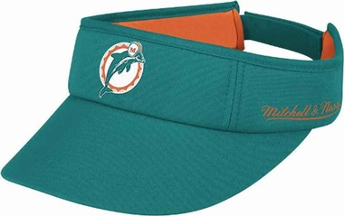Miami Dolphins Mitchell & Ness Throwback Adjustable Summer Visor