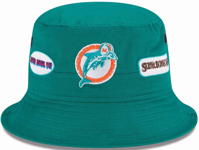 f4745d9bc9dfd sweden miami dolphins new era super bowl champion logos bucket hat 94baa  049a7