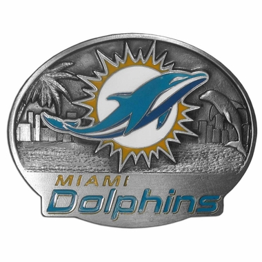 Miami Dolphins Enameled Belt Buckle