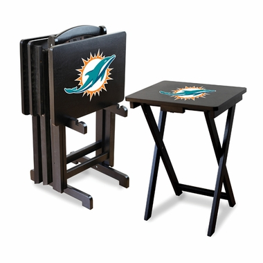 Miami Dolphins Set of 4 Folding TV Trays