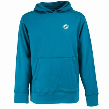 Miami Dolphins Mens Signature Hooded Sweatshirt (Color: Aqua)