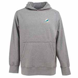 Miami Dolphins Mens Signature Hooded Sweatshirt (Color: Gray) - Medium