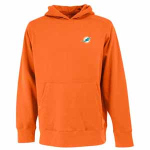 Miami Dolphins Mens Signature Hooded Sweatshirt (Color: Orange) - XX-Large