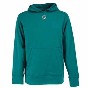 Miami Dolphins Mens Signature Hooded Sweatshirt (Color: Orange) - XXX-Large