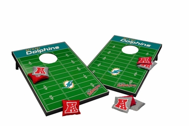 Miami Dolphins Tailgate Toss Cornhole Beanbag Game
