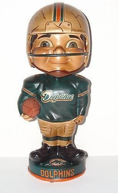Miami Dolphins Vintage Retro Bobble Head