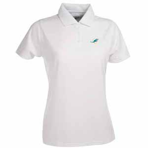 Miami Dolphins Womens Exceed Polo (Color: White) - Small