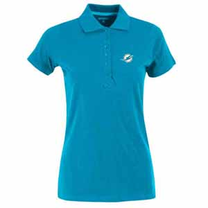 Miami Dolphins Womens Spark Polo (Color: Aqua) - X-Large