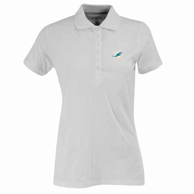 Miami Dolphins Womens Spark Polo (Color: White)