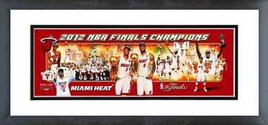 Miami Heat 2012 NBA Champions Framed / Double Matted Photoramic