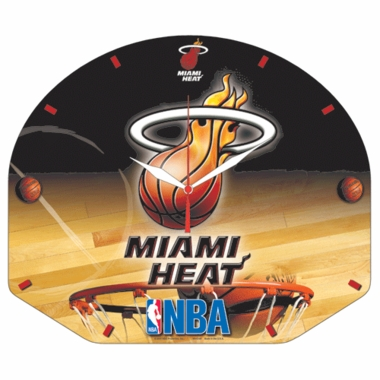 Miami Heat High Definition Wall Clock