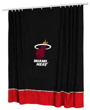 Miami Heat Jersey Material Shower Curtain