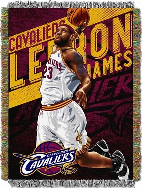 Cleveland Cavaliers Lebron James Woven Tapestry Blanket