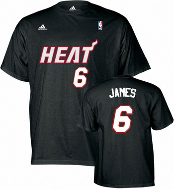 Miami Heat Lebron James YOUTH Player Name and Number T-Shirt