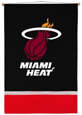 Miami Heat SIDELINES Jersey Material Wallhanging