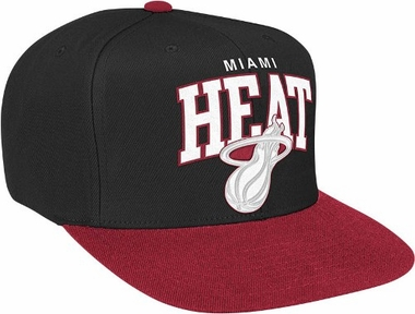 Miami Heat Snap Back Hat (White Logo)
