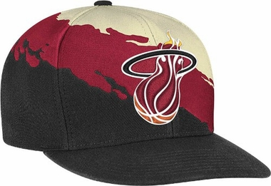 Miami Heat Vintage Paintbrush Snap Back Hat