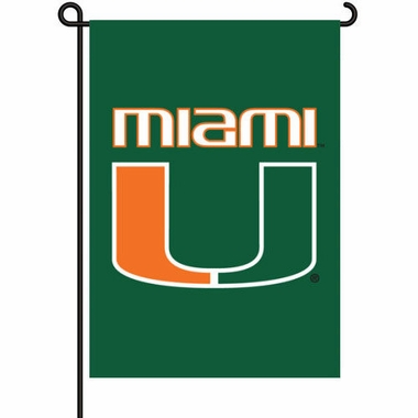 Miami Hurricanes 11x15 Garden Flag