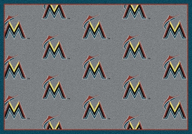 "Miami Marlins 5'4"" x 7'8"" Premium Pattern Rug"
