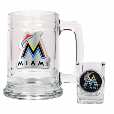 Miami Marlins Boilermaker Set