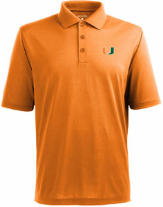 Miami Mens Pique Xtra Lite Polo Shirt (Color: Orange) - Large