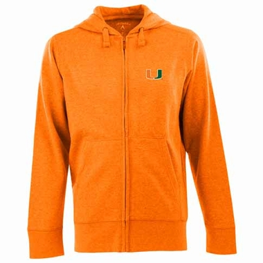 Miami Mens Signature Full Zip Hooded Sweatshirt (Color: Orange)