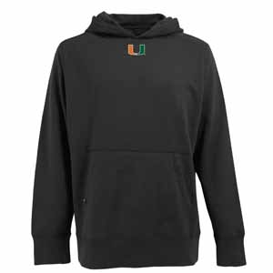 Miami Mens Signature Hooded Sweatshirt (Color: Black) - Large