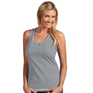 Miami Womens Sport Tank Top (Color: Gray) - Small