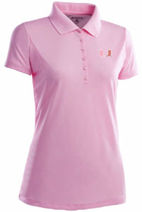Miami Womens Pique Xtra Lite Polo Shirt (Color: Pink) - Medium