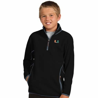 Miami YOUTH Unisex Ice Polar Fleece Pullover (Color: Black)