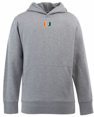 Miami YOUTH Boys Signature Hooded Sweatshirt (Color: Silver)