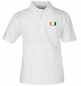 Miami YOUTH Unisex Pique Polo Shirt (Color: White) - Small