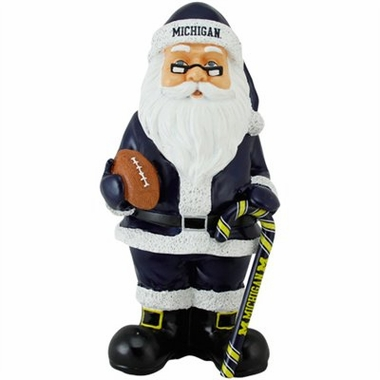 Michigan 11 Inch Resin Team Santa Figurine