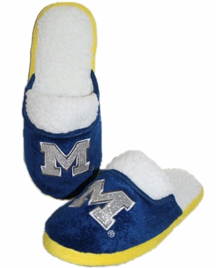 Michigan 2012 Womens Team Color Sherpa Glitter Slippers