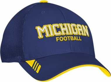 Michigan Adidas Player Mesh Back Flex Hat