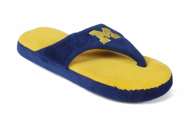 Michigan Unisex Comfy Flop Slippers - Large