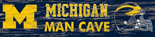 Man Cave Store In Michigan : Michigan distressed man cave sign large